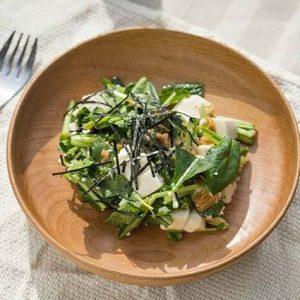 なめたけで和える 豆腐のかんたんサラダ